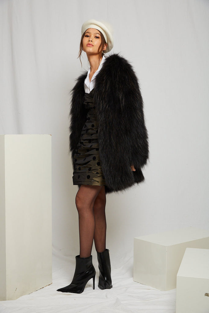 Exotique Long Coat in Onyx - Mode & Affaire