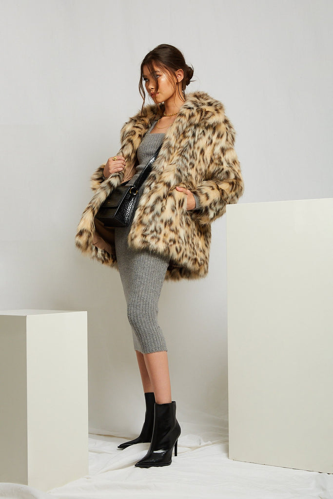 Mimi Faux Leopard Coat - Mode & Affaire