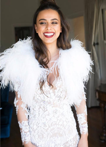 Bridal Feather Bolero