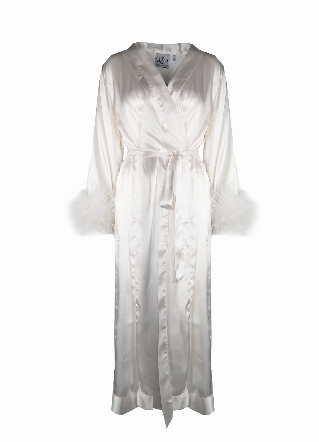 Peggy Bridal Dressing Gown in Snow – Mode & Affaire