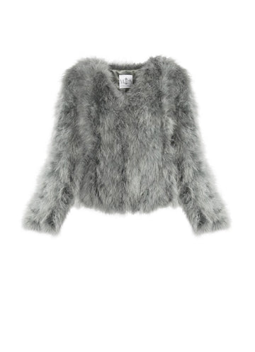 Grey Feather Jacket
