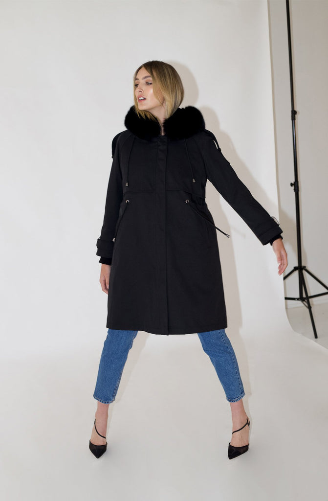 Maxwell Long Parka in Onyx - Mode & Affaire