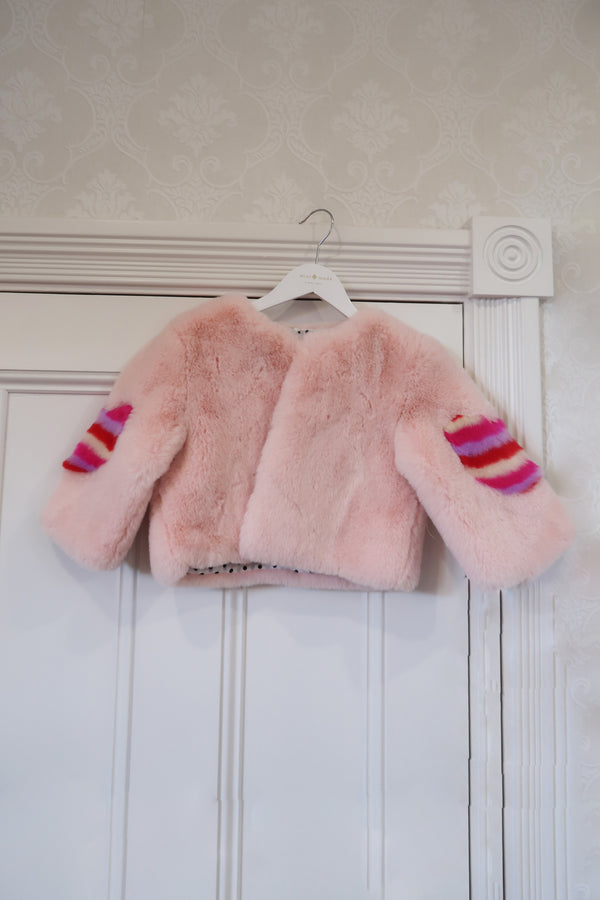 Kids Faux Jacket Sherbert Sample