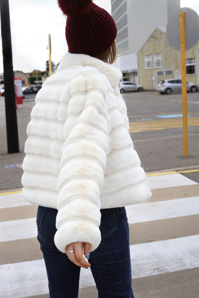 Step Aside Faux Jacket in Shell - Mode & Affaire
