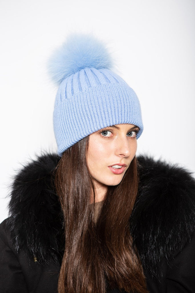 Angora Beanie Azure - Mode & Affaire