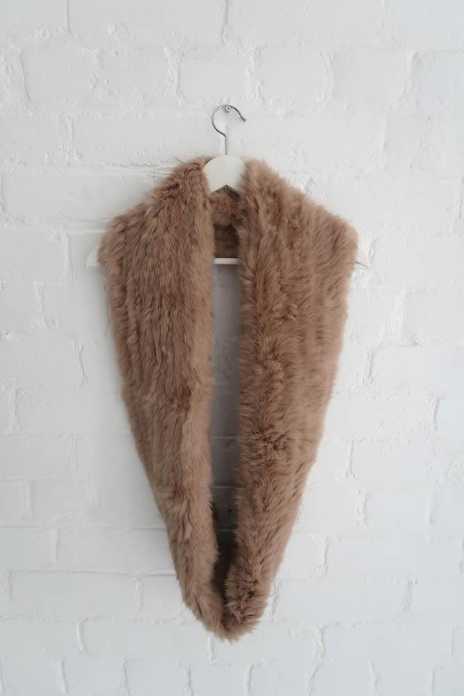 Infiniti Real Fur Scarf in Latte - Mode & Affaire