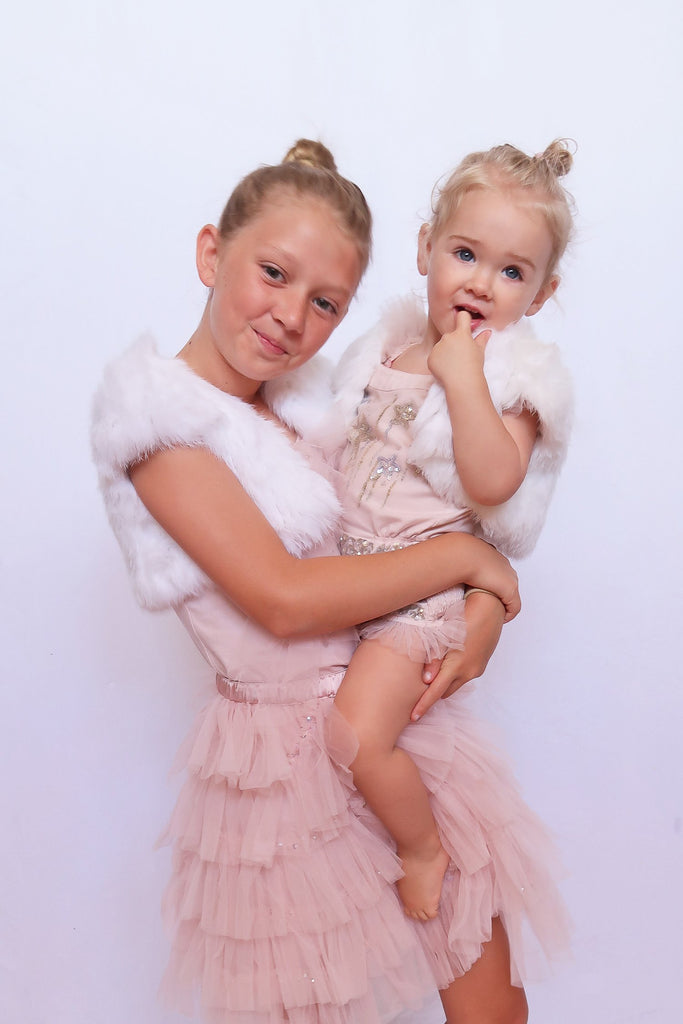 Kids Laci Fur Bolero in Snow - Mode & Affaire
