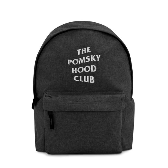 The Pomskyhood Club Embroidered Backpack