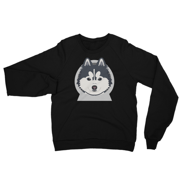 Pomskyhood Logo Unisex California Fleece Raglan Sweatshirt