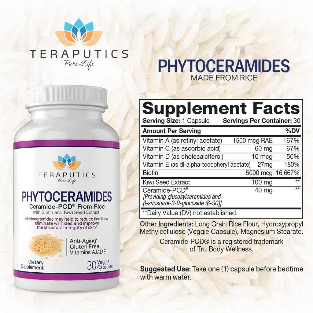 Phytoceramides Made from Rice with Biotin and Kiwi Seed