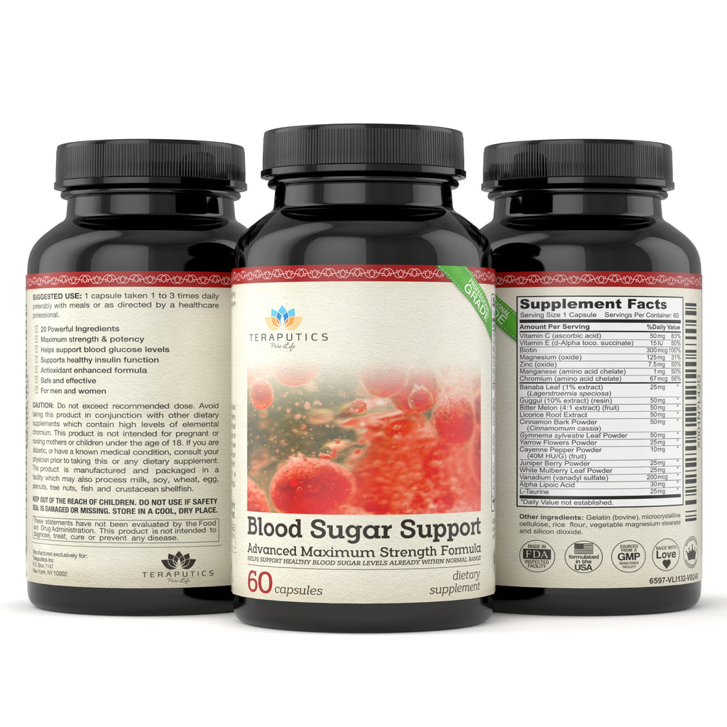 Blood Sugar Support with 20 Premium Ingredients