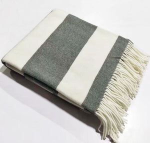 Woven Striped Throws