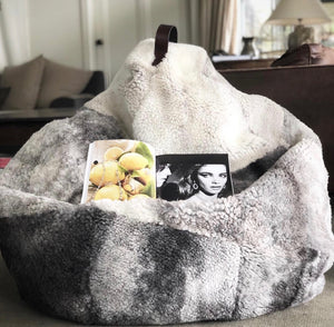 Wool Bean Bag - Natural Short Curly