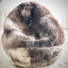 Wool Bean Bag - Natural Non Dyed Long Hair