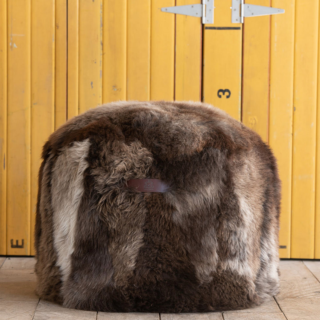 Woolly Sheepskin Pouf