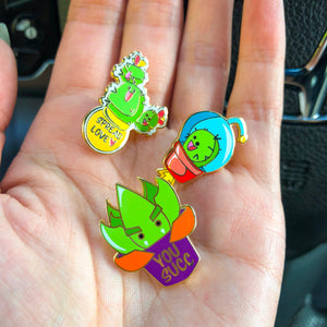 Succulent Cartoon Pins