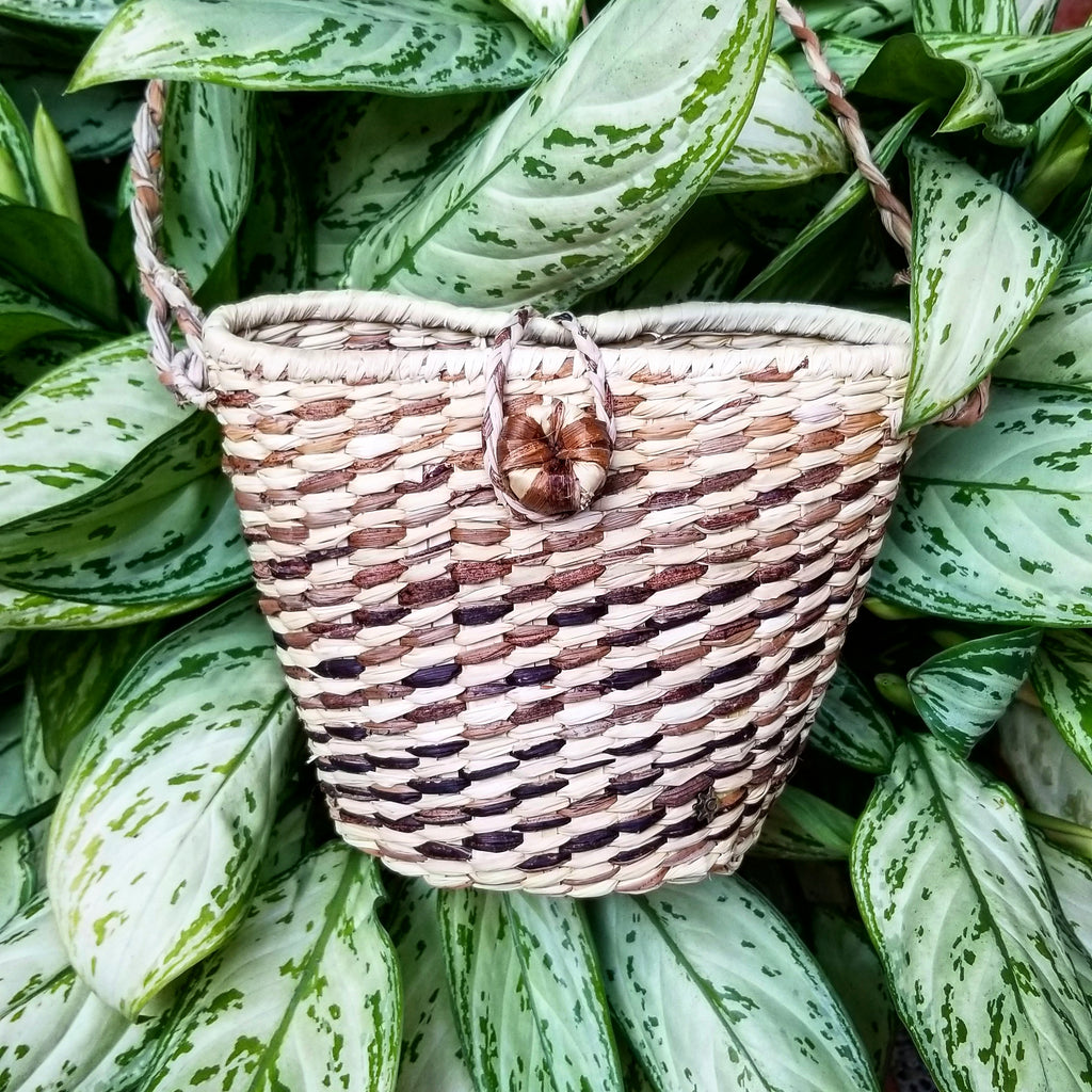 Speckle Basket Purse
