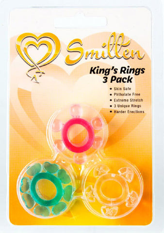 Smitten King's Rings 3 Pack