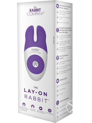 THE LAY-ON RABBIT (PURPLE OR PINK)