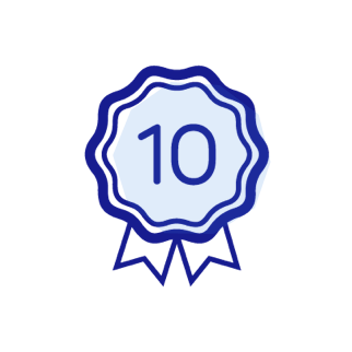 10 years warranty icon