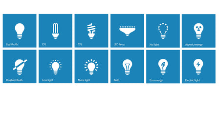 A photo showing all the different light bulbs