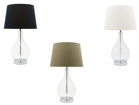 Gina Table Lamp 1L 60W E27 in Black, Green or White Shade 650mm Cougar Lighting