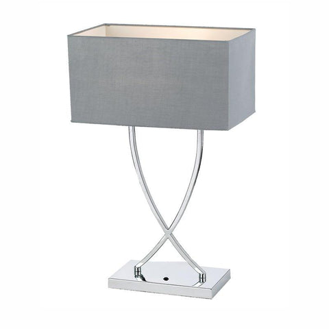 Jasmine Table Lamp E27 240V 40W Max Modern Chrome/Grey Telbix JASMINE TL-CH/GY