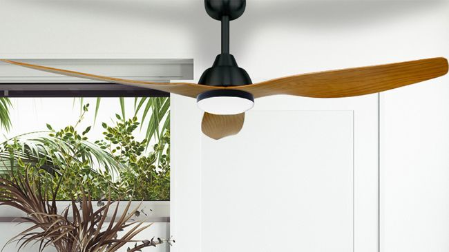 The Bahama best ceiling fan installed in a home
