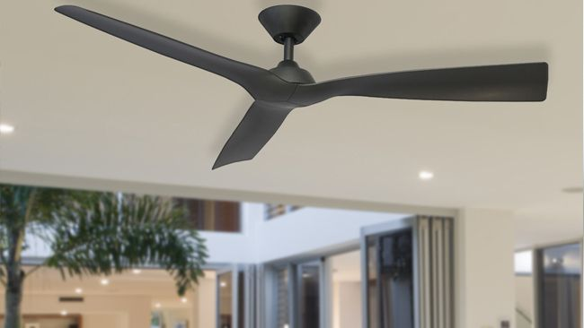 The Ultra quiet ceiling fan - The Trinidad installed in a room