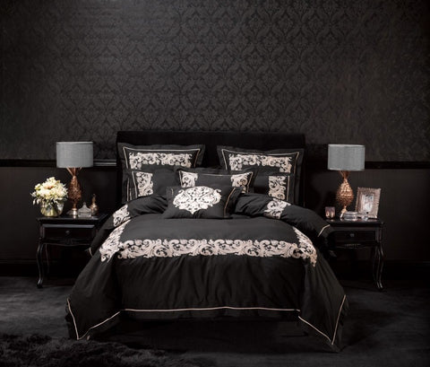 Alex Perry Palazzo Black Quilt Cover Set