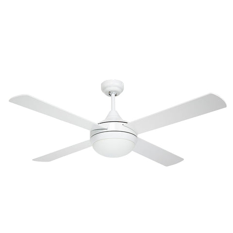 Brighton 52″ Ceiling Fan with Light Brushed Aluminium/White Brilliant Lighting