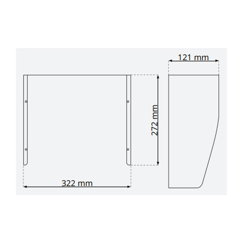 120mm Glare Shield for LED floodlight suits for 150w / 200w / 300w