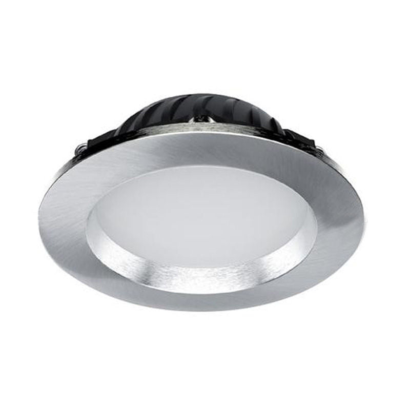LED Recessed Downlight 12W Brushed Chrome Dimmable 3K Warm