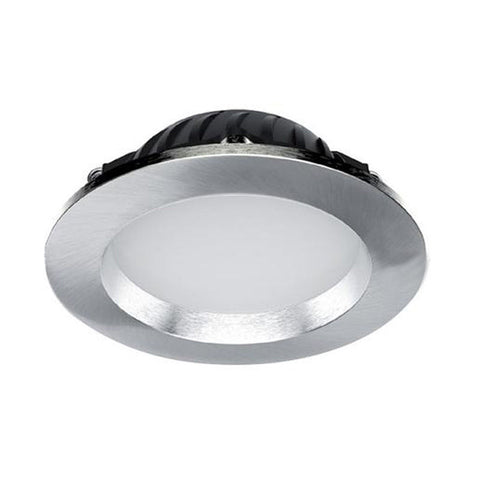 Crompton lighting buy crompton lights led recessed downlight 12w brushed chrome dimmable 3k warm white crompton lighting 27458 mozeypictures Images