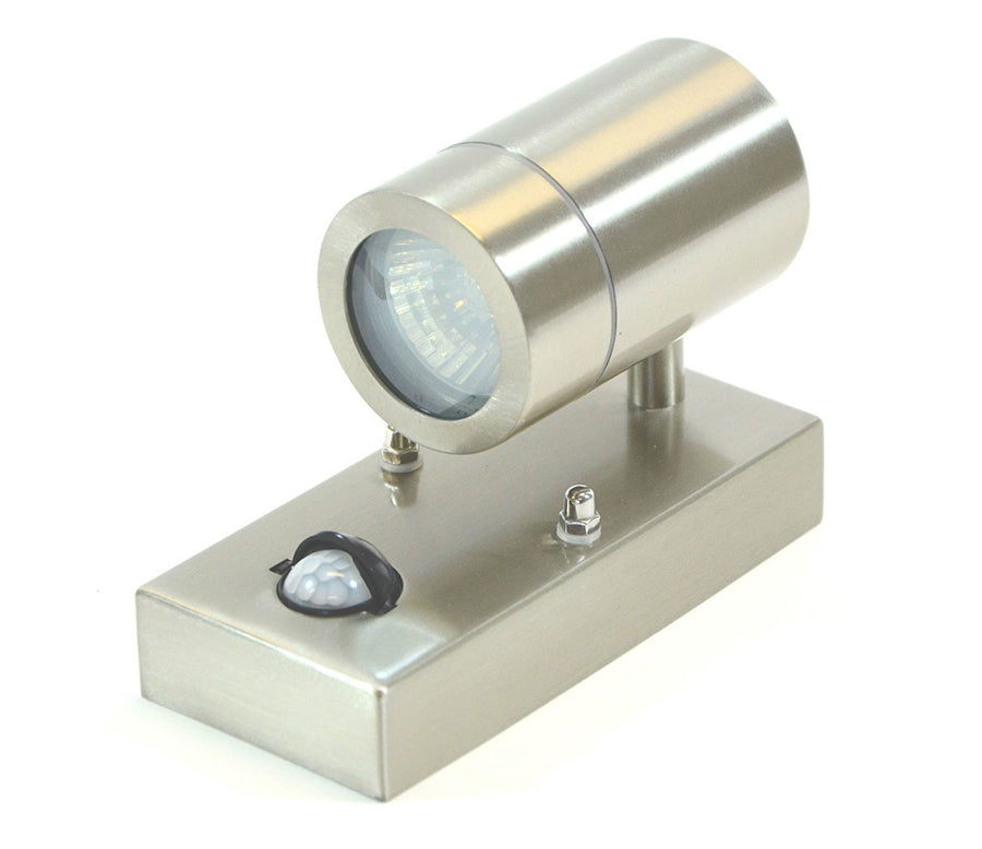 Outdoor Wall Light With Sensor: LED Sensor Outdoor Wall Light Stainless Steel Exterior