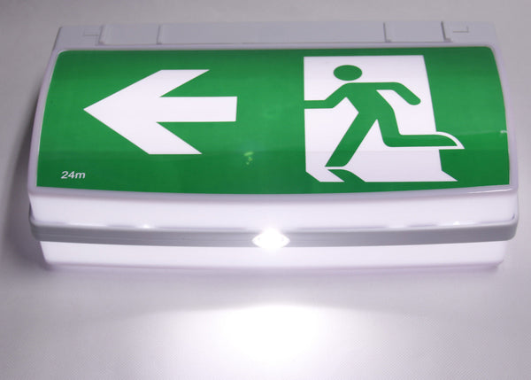 Viper Led Emergency Light Exit Sign Wall Or Ceiling