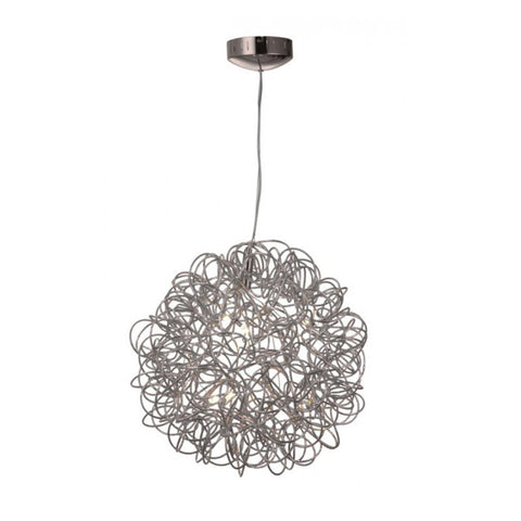 Wictoria Shinning Pendant Light 15xG4 20W in Chrome w/ Steel + Aluminium She Lights - A1280