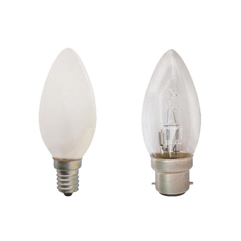 28w Halogen BC Candle Lamps x 10 Clear Low Energy Candle Bulbs x 10 B22