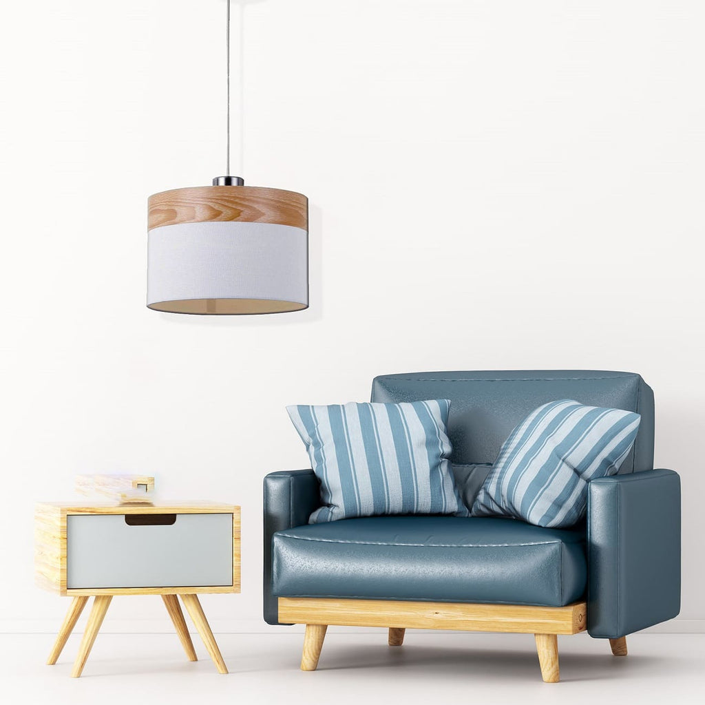 White Oak Look Pendant Light In Small Or Large Sizze The Lighting Outlet