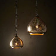 Neptune Perforated Raindrop Pendant Light in Nickel (Small/Large) Zaffero - ZAF11073, ZAF11072