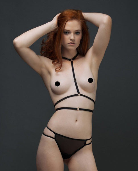 Joelle Harness Black - Eros Fine Goods