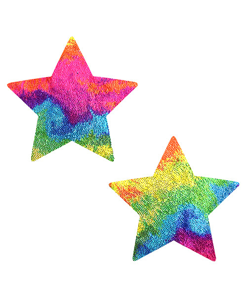 NevaNude Pasties - Rainbow Stars - Eros Fine Goods