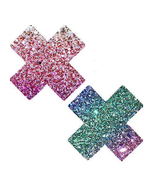 NevaNude Pasties - Sparkle Cross - Eros Fine Goods