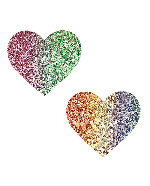 NevaNude Pasties - Sparkle Hearts - Eros Fine Goods