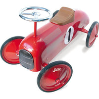 Vilac Kids Classic Toy Ride On Race Car - Red