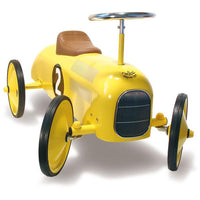 Vilac Kids Classic Toy Ride On Race Car - Yellow - Grace Baby