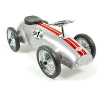 Vilac Speedster Racing Metal Ride On Car - Silver - Grace Baby