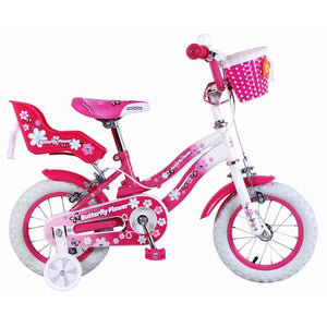 Super Max Pink Butterfly Flower 12 Inch Girls Bike