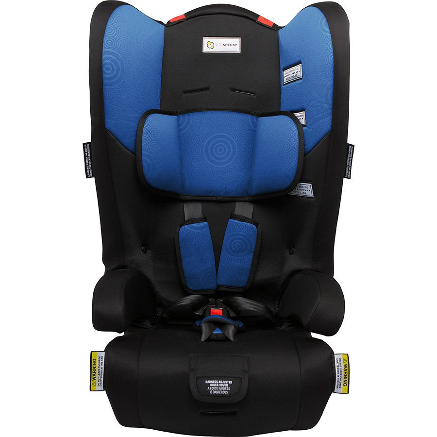Infa Secure Racing Kid Convertible Booster Seat - Blue Swirl   Grace
