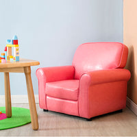 Sophia Kids PU Leather Armchair Sofa - Pink - Grace Baby